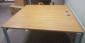 office retangle brown desk table meeting room