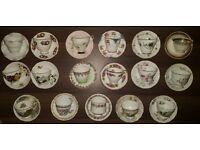 Bone China Tea Cup & Saucer Sets - Job Lot 89pcs