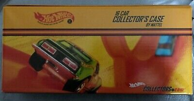 HOT WHEELS  RED LINE CLUB 16 CAR COLLECTOR'S CASE 2002 BY MATTEL ~ Mint Cond.