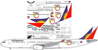 Philippine Airbus A-330-300 75th Anniversary decals for Revell 1/144 kit