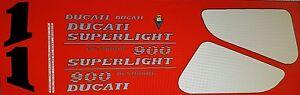 DUCATI 900 SUPERLIGHT MK2 MODEL PAINTWORK DECAL KIT