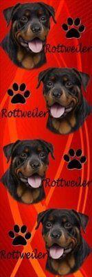 E&S Pets BM-33 Dog Bookmark Rottweiler