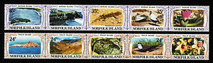 1982-Norfolk-Is-Philip-Nepean-Islands-MUH-Strips-of-5
