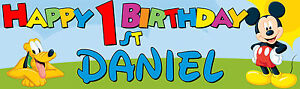 Personalised Childrens Birthday Banner - Various designs to choose from