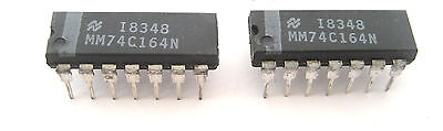 74c164n 8-bit Parallel-out Serial Shift Register 2lot Great Price