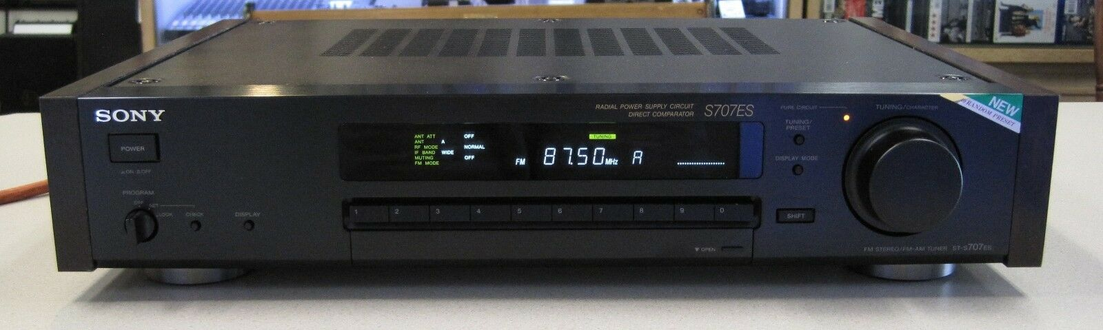 SONY ST-S707ES Black High-End Stereo FM-AM Tuner | Wundr-Shop