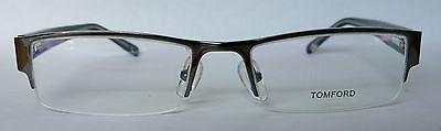 Tom Ford FT6003 Gunmetal Half Rim Optical Glasses, 53mm, 18mm, 135mm, Unisex