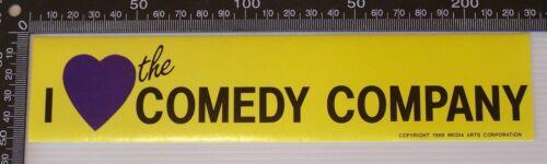 1988 I LOVE THE COMEDY COMPANY CHANNEL 10 MEDIA ARTS CORPORATION BUMPER STICKER