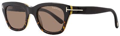 Tom Ford Rectangular 50mm TF237 Snowdon Sunglasses 05J Black/Havana/Honey (Tom Ford Snowdon Sunglasses Black)