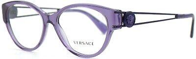 Versace Damen Brillenfassung VE3254 5160 54mm lila transparent Vollrand 31D 12