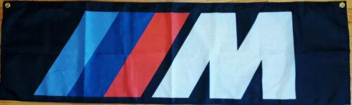 BMW M Flag Automotive Shop Garage Man Cave Mechanic Racing Banner 58x17 inches