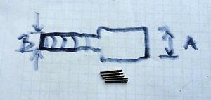 Watch winding stem extenders - lot of 5 - 0,9 x 1,2 mm - <span itemprop='availableAtOrFrom'>Polen, Polska</span> - Watch winding stem extenders - lot of 5 - 0,9 x 1,2 mm - Polen, Polska