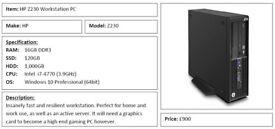 HP Z230 Workstation PC