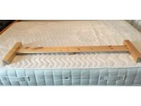 Double bed - small double, simple pine frame plus Clima mattress (120x190mm)