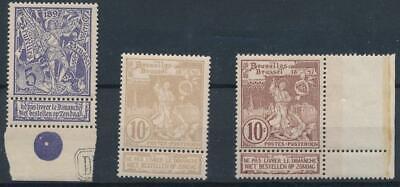 [167] Belgium 1896 good set very fine MNH stamps value $28