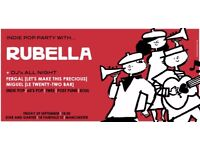 This Friday Night Indie Pop Night Djs & Live Band ' Rubella ' one off event star & garter 29/09