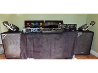 Full Set Disco Equiment - Amp, Mixer, CD Deck, Speakers, Lights, Stands, Phone, Mics, Smoke Machine