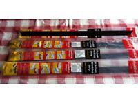 4 x KITCHEN WORKTOP ALIMINIUM CORNER JOINTS, BLACK, 30mm, incl. screws. ( NEW )