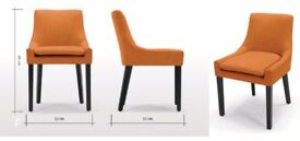 Marigold Orange Scoop Back Dining Chair - Made