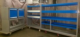 Bott Van racking, Van shelving, Van Drawers, worktop, cupboard, pipe rack