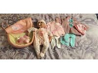 Baby annabell doll with clothes and accessories