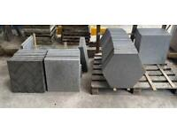 •NEW• ROUND TOP CONCRETE PATH EDGING, WALL COPING, PAVING SLABS, STEPPING STONES