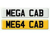 Personalised registration Private number plate CABBY TAXI DRIVER CHAUFFEUR CAB