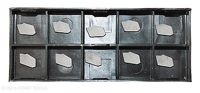 Rishet Tools Gtn-2 C5 Uncoated Carbide Inserts 10 Pcs