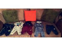 Baby boy tracksuits, baby grows, vests, pyjamas, t-shirts, coats, trousers.