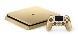 Gold ps4 with gold controller