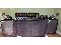 Full Set Disco Equipment - Amp, Mixer, CD Deck, Speakers, Lights, Stands etc.