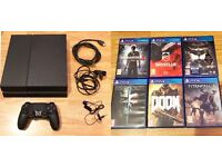 Sony Playstation 4 - 500GB - Plus 6 games - LIKE NEW - Latest Games!