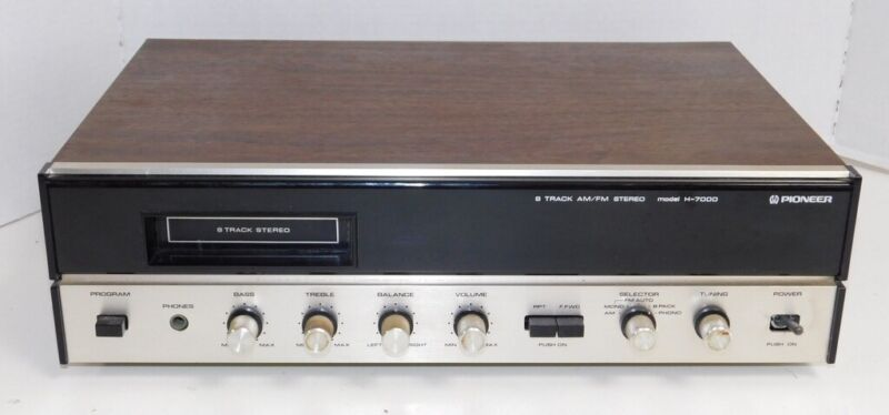 Pioneer H-7000 AM/FM 8-Track Stereo Reciever See Description