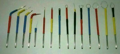 15 Pcs. Electrodes Surgery Dental Tips Electrosurgery Set Of Dermatology Mnjk