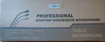 (Wired Professional Conference Microphone Gooseneck Desktop Condenser Microphone)