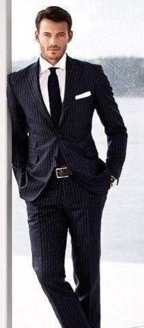 c0de76b97b13 Men's Tom English Grey-Black Lightly Pinstriped Stretch Comfort Suit  Trousers.Size 34S.
