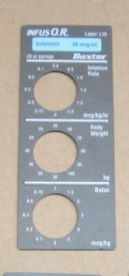 Baxter Bard Infus O.r. Smart Label Sufentanil Label L10