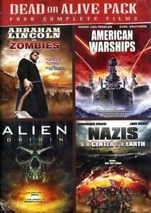 Dead or Alive-4 dvd set Abraham,Zombie,Alien&Nazi movies +