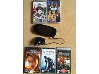 PSP with 5 games