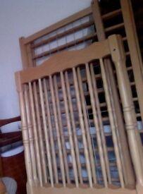 Wooden cot frame