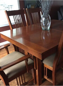 Beautiful all wood dining table and chairs