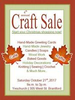 Yeschurch 4th Annual Craft/Gift Sale