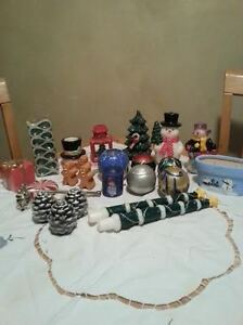 Christmas Candle collection and assorted Xmas items