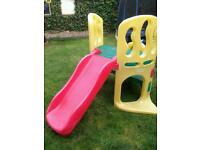 Little tykes climbing fame and slide