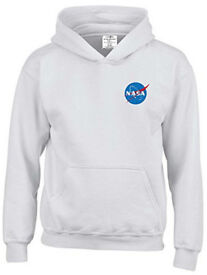 NASA Space Hooded Top Jumper Age 11/13 White New Quality Apollo Astronomy Hubble Telescope Esa