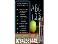 English and Maths Tuition ages 4+ (specialist in primary education)