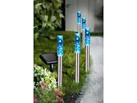 Set of 5 Colourful Bubble Solar Lights, change to different colours