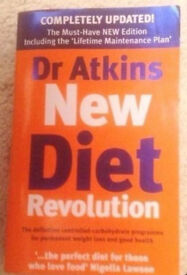 Dr. Atkins' New Diet Revolution Paperback Book by Robert C. Atkins.