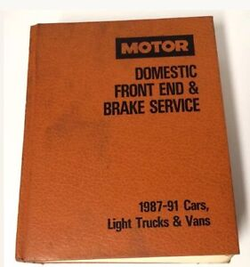 1987 - 91 Domestic Front End &!Brake Service Manual by Motor Kawartha Lakes Peterborough Area image 1