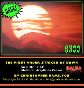Crazy Sale on ART!! 70% Off on this Fan Art Star Wars painting